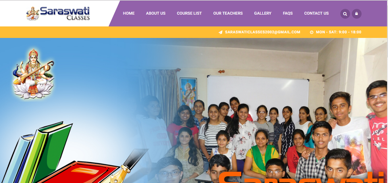 Saraswati Classes – Website