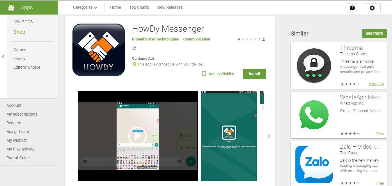 HowDy Messenger – Mobile App